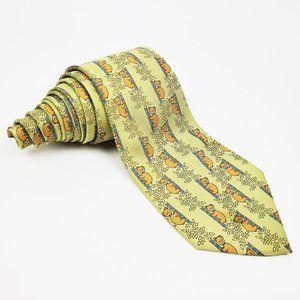 Hermes 100% Silk Koalas Pattern Men's Neck Tie